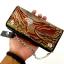กระเป๋าสตางค์ยาว แบบ2พับ สีน้ำตาลลายอินทรีย์ผยอง หนังวัวแท้ thumbnail 3