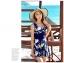 ชุดว่ายน้ำวันพีช ลายกราฟฟิก สีน้ำเงิน คอวี แขนกุด thumbnail 4