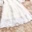 ชุดเดรสสไตล์เจ้าหญิง ผ้าลูกไม้ปักลายสีขาว งานปักละเอียดสวยมากๆ thumbnail 12