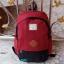 พร้อมส่ง DW-8226-สีแดง-ดำ กระเป๋าเป้ผ้าไซร์ใหญ่ตัดเย็บ two-tone thumbnail 1
