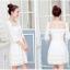 ชุดเดรสเกาหลี เดรสผ้าไหมแก้ว organza สีขาว ปักด้วยด้ายลายดอกไม้ สวยมากๆ thumbnail 5