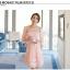 ชุดเดรสสวยๆ ผ้าไหมแก้ว organza ปักด้วยด้ายลายดอกไม้ สีชมพู สวยมากๆ thumbnail 2