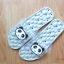 K020-GY **พร้อมส่ง** (ปลีก+ส่ง) รองเท้านวดสปา เพื่อสุขภาพ ปุ่มใหญ่สลับเล็ก (การ์ตูน) สีเทา ส่งคู่ละ 150 บ. thumbnail 4