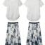 [พร้อมส่ง] แฟร์ชั่นยุโรปผู้หญิง 2014 ฤดูร้อนใหม่ลูกไม้กระโปรงผ้าฝ้ายพิมพ์ลาย +เสื้อลูกไม้พร้อมซับใน Leisure Suit thumbnail 11