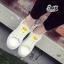 รองเท้าผ้าใบ Fashion แต่งรูปยิ้มตรงลิ้นรองเท้าและด้านหลัง เก๋ๆ thumbnail 2