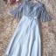 ชุดราตรียาว ตัวเสื้อผ้าลูกไม้ลายดอกไม้สีเทา คอกลม ตัวผ้าลูกไม้มีเกล็ดกลิสเตอร์ในตัว thumbnail 8