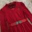 ชุดเดรสสีแดง ผ้าลูกไม้เนื้อนิ่มมากๆ แขนยาว ที่คอเสื้อ แต่งด้วยผ้าแยกออกมา thumbnail 8