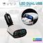 ที่ชาร์จในรถ LED DUAL USB CAR CHARGER RCF-R58 ราคา 300 บาท ปกติ 750 บาท thumbnail 1