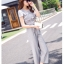 แฟชั่นเกาหลี set เสื้อ และกางเกงสวยหรู พร้อมสร้อยคอสีทองเก๋ๆ เหมือนแบบ thumbnail 3