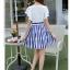 ชุดเดรสเกาหลี ตัวเสื้อผ้าชีฟองสีขาว แต่งคอถ่วง แขนเสื้อระบายเหมือนแบบ thumbnail 10