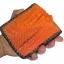 กระเป๋าสตางค์ 2 พับ หนังจระเข้เเท้ หนังต่อเย็บมือ สีส้ม thumbnail 5