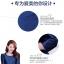 ชุดเดรส ผ้าไหม สีน้ำเงิน แขนยาวสี่ส่วน ตัวเสื้อเย็บลอยออกมาจากชุด ที่เอวมีสายผูกเอว thumbnail 5