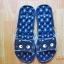 K020-ฺDBL **พร้อมส่ง** (ปลีก+ส่ง) รองเท้านวดสปา เพื่อสุขภาพ ปุ่มใหญ่สลับเล็ก (การ์ตูน) สีกรมท่า ส่งคู่ละ 150 บ. thumbnail 3