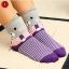 S027**พร้อมส่ง** (ปลีก+ส่ง)ถุงเท้าแฟชั่นเกาหลี ลายหมี ข้อสูง มีหู มี 5 สี (ดำ น้ำเงิน แดง เหลือง ม่วง)เนื้อดี งานนำเข้า ( Made in China) thumbnail 2