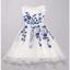 ชุดเดรสออกงาน ชุดเดรสผ้าไหมแก้ว สีขาว ปักลายดอกไม้สีน้ำเงิน สวยมากมายครับ แขนกุด ซับในด้วยผ้าซาตินสีขาว thumbnail 10