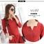 เสื้อผ้าแฟชั่น set 2 ชิ้น เสื้อ และกางเกง สีแดงเลือดหมู thumbnail 5