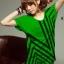 เสื้อยืดแฟชั่น แขนเบิ้ล ลายดาวกราฟิก สีเขียว thumbnail 1
