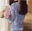 แฟชั่นเกาหลีมาใหม่ set เสื้อ และกระโปรงผ้าลูกไม้ถักโครเชต์ สีฟ้า สวยมากๆ thumbnail 9