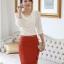 เสื้อทำงาน เสื้อแฟชั่น เสื้อเกาหลี เสื้อแขนยาว ประดับมุกที่คอ ด้านหน้าผ้าสองชิ้น ชิ้นนอกผ้าชีฟอง เสื้อผ้ายืด สีขาว สวยมากๆ (พร้อมส่ง) thumbnail 1