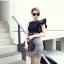 แฟชั่นเกาหลี Set เสื้อ และกระโปรง สวยเก๋ thumbnail 3