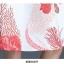 ชุดเดรสสายเดี่ยว ผ้าคอตตอนผสมพื้นสีขาวพิมพ์ลายดอกไม้สีแดง thumbnail 10