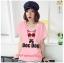 เสื้อยืดแฟชั่น ผ้านุ่ม ลาย Doc Dog (Size M:36 นิ้ว) สีชมพูอ่อน thumbnail 1