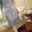 ชุดเดรส ผ้ามุ้งเนื้อละเอียดสีเทา ปักด้วยด้ายลายตามแบบ แขนยาว 3 ส่วน thumbnail 9