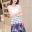 แฟชั่นเกาหลีมาใหม่ Set 2 ชิ้น เสื้อและกระโปรง สวยมากๆ thumbnail 3