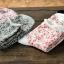 S070**พร้อมส่ง** (ปลีก+ส่ง) ถุงเท้าแฟชั่นเกาหลี ข้อยาว ขอบม้วน เนื้อดี งานนำเข้า(Made in china) thumbnail 3