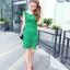 ชุดเดรสสวยๆ ผ้าถักรูปดอกไม้ สีเขียว เดรสทรงตรง เข้ารูปช่วงเอว thumbnail 6