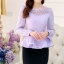 เสื้อผ้าลูกไม้ แฟชั่นเกาหลีมาใหม่ สีม่วง thumbnail 1