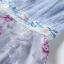 ชุดเดรส ตัวเสื้อผ้าฝ้ายแขนกุด สีฟ้า ช่วงเอวเป็นงานปัก thumbnail 8
