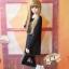 [พรีออเดอร์] เสื้อแขนยาวตุ๊กตาคอปกลายแมวน้อย สีดำ thumbnail 4