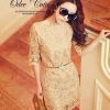Luxury Gold Embroidery Dress เดรสสุดหรู ผ้าลูกไม้ โทนสีทอง