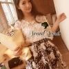 Seoul Secret ชุดเซ็ทเสื้อผ้าลูกไม้ กระโปรงผ้าแก้วทอลายดอก