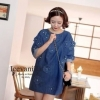 Icevanilla Denim Dress เดรสยีนส์ประดับดอกไม้ ปักมุก