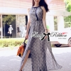 Lady Ribbon Paisley Chiffon Maxi Dress