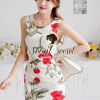 Seoul Secret Girly Red Blossom Print Camisole Dress