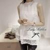 Lady Ribbon Lace Top เสื้อแขนกุดผ้าลูกไม้ สีขาว สีดำ