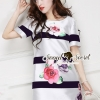 Seoul Secret Stripy Rose Dress