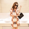 IceVanilla Retro Print Head Beauty Dress