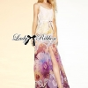 Lady Ribbon Colourful Floral Printed Long Dress