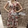 Lady Ribbon Tropical Maxi Dress เดรสยาวพิมพ์ลาย