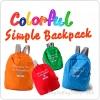 Colorful Simple Backpack กระเป๋าเป้พับได้
