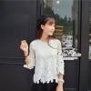 Odee Cutie เสื้อลูกไม้ทอลายดอกไม้ ประดับลูกปัดมุก