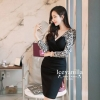 Icevanilla Romantic Black Lace Knit Dress