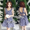 Lady Ribbon Sweet Petite Flowery Dress