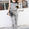 Seoul Secret Nifty Long Graphic Pattern Print Jumpsuit