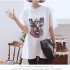 Icevanilla Cartoon Printed Diamond Stitching Lace Blouse