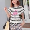 Seoul Secret Pink Flamingo Stripy Top